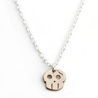 Skull Necklace, Bronze -