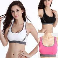Healthy Style Women Jogging Sports Blockout Bra Vest Gymwear Fitness Crop-top Yoga Exercise Tank Tops SV003465 Underwear = 1645828548