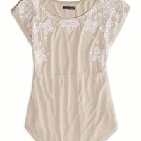 AEO Women's Embroidered T-shirt