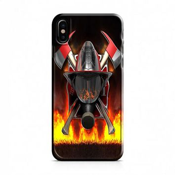 Firefighter (logo red flames) iPhone X Case