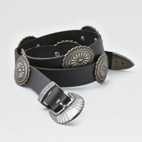 AEO Western 3-Piece Concho Belt, Black