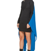 Gareth Pugh | Cape Dress in Black/Blue