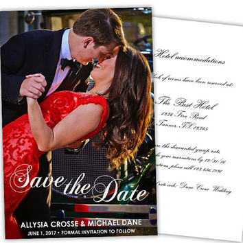 Photo Save The Date Card - Modern Wedding Save The Date Invitation - Save The Date Cards - Couple Photo Save the Date Invite - Printed Fast