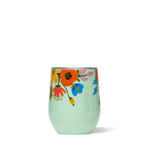Rifle Paper Co. Lively Floral Stemless Wine Tumbler - Mint