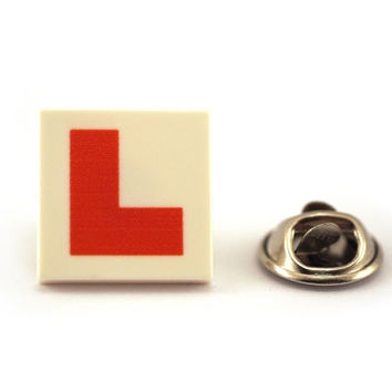 Learner Driver, L plate, L for Love, Tie Pin, Tie Tack Pin, Men's Tie Tacks, Tie Tac, Silver Tie Clip, Tie Clips Men, Wedding Clip, Tie Tack