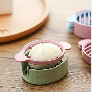Happy Sale Wheat Straw Egg Cutter Split Device Food Divider Slicer Egg Slicer dec14