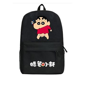 Cartoon backpack Comic Anime Crayon Shin-chan Cosplay student book bag men and women backpack travel Shoulders Package 20 style