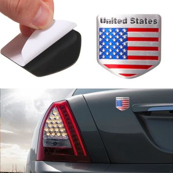 1pcs Car Styling The United States American Flag Car stickers For Cadillac for Buick for Chevrolet for Lincoln for Jeep for BMW