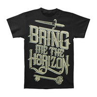 Bring Me The Horizon Men's  Sword Slim Fit T-shirt Black Rockabilia