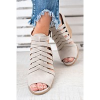 First Class Strappy Booties (Light Grey)