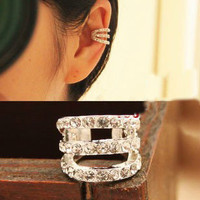 NT0128 Three rows of diamond ear bones clip