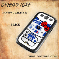 R2D2 Star Wars Hello Kitty Black White Snap On 3D For Samsung Galaxy S3 Case