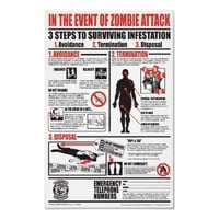 IN THE EVENT OF ZOMBIE ATTACK POSTER from Zazzle.com