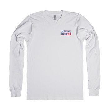 Reagan Bush 84 Election Long Sleeve Pocket Print