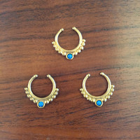 Blue Belle Fake Septum Ring