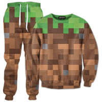 Minecraft Grass Tracksuit