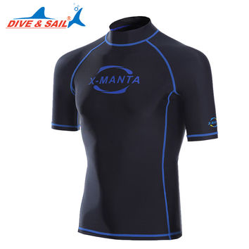DIVE&SAIL Lycra UPF 50+ Rash Guards For men Body Suits Separates Snorkeling Diving Skin Anti-UV Wear Surfing Sports Swim Clothes