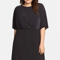 Plus Size Women's ABS by Allen Schwartz Asymmetrical Blouson Dress