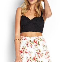 Unfocused Rose Print Skirt