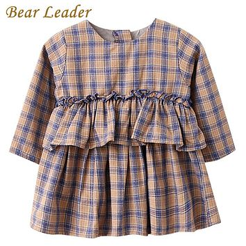 Girls Shirts New Baby Girls Blouse Plaid Lace Kids Shirts Full Children Clothing