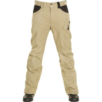 O'Neill Womens PMFR Beige Waterproof Winter Cargo Snowboard Ski Pants Medium