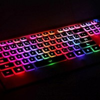 FOME QWERTY US Layout M8 7 Color USB led Illuminated High Quality Backlit Ultra-thin gaming keyboard White
