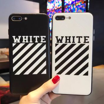 Trendy Off White In Black & White  Iphone 8 8 Plus/7 7 Plus/ 6 6s Plus Cover Case