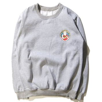 RIPNDIP The middle finger cats Round collar Pullover Hedging Sweater long sleeve sports shirt-3
