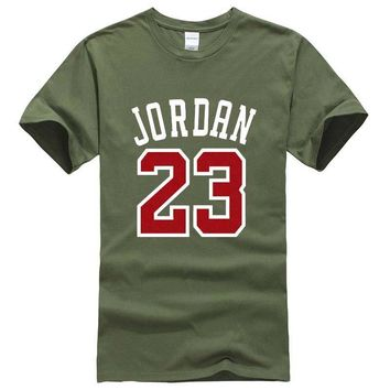 Brand Clothing Jordan 23 Men T-shirt Swag T-Shirt Cotton Print Men Tshirt Homme Fitnes