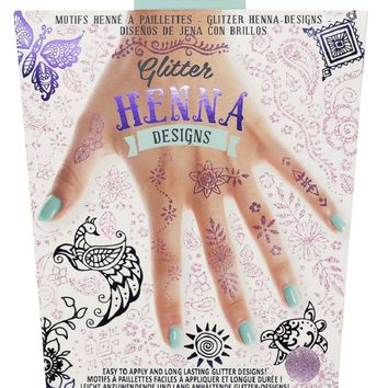 Glitter Henna Designs - Temporary Tattoos!