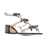 René Caovilla Embellished Bow Sandals - Farfetch