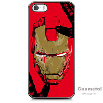 Iron Man Cover Case For iPhone 5 /5s /SE + Screen Protector + Stylus