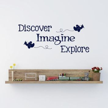Discover Imagine Explore Wall Decal