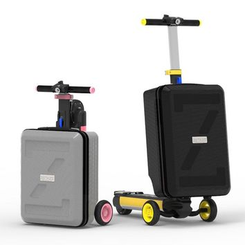 ZETAZS CASTLE Color E-Scooter with 20/16 inch Luggage foldable 3 wheels electric scooter folding bicycle skateboard power bank
