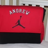 Jordan Themed Messenger Diaper Bag