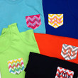 Custom Long Sleeve Monogrammed Pocket Tee- You pick the colors