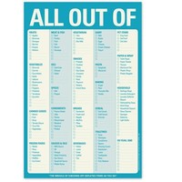 All Out of Note Pad - The Ultimate Grocery List Note Pad
