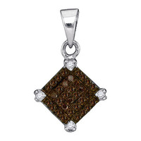 Diamond Micro-pave Pendant in 14k Sterling Silver 0.15 ctw