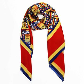 Old Bay Can Pattern / Silk Scarf