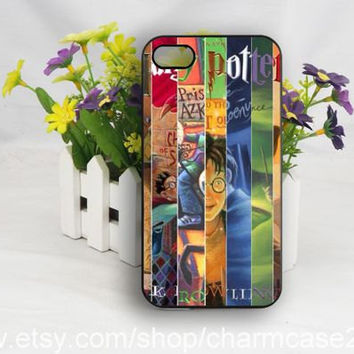 Harry Potter all books,Harry Potter iPhone 4s case,samsung galaxy s3/s4/s5 case,iphone 4/4s case,iphone 5/5s/5c case,Personalized case