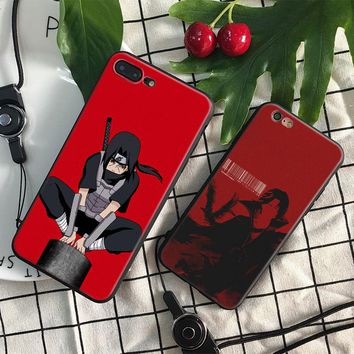 Naruto Itachi Uchiha Coque soft silicone TPU Phone Case cover Shell For Apple iPhone 5 5s Se 6 6s 7 8 Plus X XR XS MAX