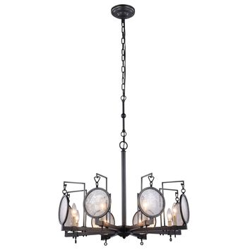 "Twilight 28"" Diam Chandelier, Bronze Finish"