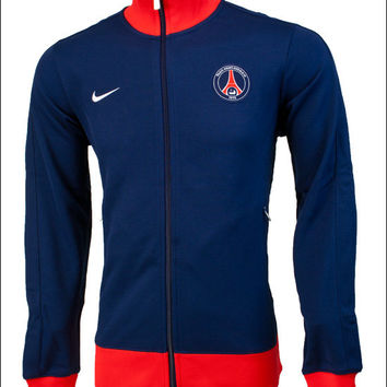 Nike PSG Authentic N98 Track Jacket - Midnight Navy with Challenge Red - SoccerPro.com