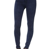 Bullhead Denim Co Super High Rise Skinniest Midnight Horizon Jeans - Womens Jeans - Blue -