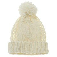Nine West: Cable & Open Weave Beanie Hat