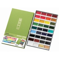 Kuretake Gansai Tambi 36 Color Set Japanese Traditional Solid Water Colours for Professional Artists and Crafters