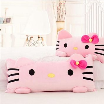 1pc 60cm Super Cute Pink Hello Kitty Plush Pillow Nap Cushion Stuffed Soft Gift For Girl Home Pillow