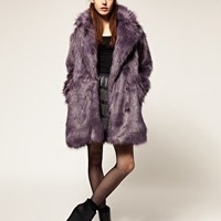 Blackheart 'Epic' Coloured Faux Fur Coat With Silk Lining at asos.com