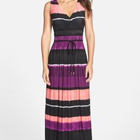 Women's Ivanka Trump Stripe Maxi Dress,
