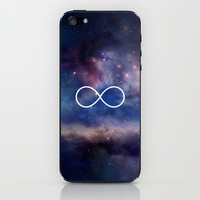Infinity Symbol Stars Galaxy Space iPhone & iPod Skin by RexLambo | Society6